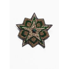 Bead Star Brooch - Gold