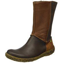 El Naturalista Damen N796 Soft Grain-Pleasant Brown/Nido Kurzschaft Stiefel, Braun (Brown N12), 38 EU