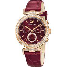 Swarovski Uhr gold / rubinrot