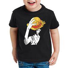 style3 Ruffys Straw Hat Kinder T-Shirt, Größe:152