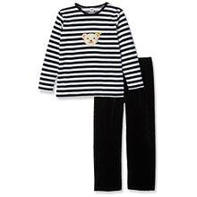 Steiff Unisex Kinder Zweiteiliger Schlafanzug 2-tlg, Schwarz Marine 3032, 18-24 Monate (Herstellergröße: 92)