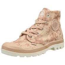 Palladium Damen Pampa Hi Hohe Sneakers, Pink (Salmon Pink/Marshmallow/Floral Print), 38 EU