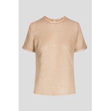 Shirt mit Metallic-Garn
