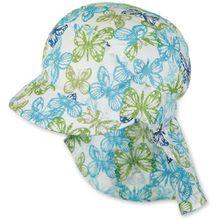 Sterntaler Schirmmütze mit Nackenschutz - Schmetterlinge
