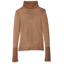 ONLY Damen Onldarling L/S Rollneck Pullover Knt, Braun (Rubber Detail:W. Gold), 40 (Herstellergröße: L)