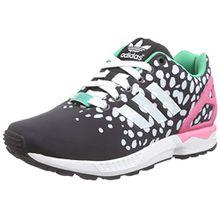 adidas Originals ZX Flux M19455, Damen Low-Top Sneaker, Schwarz (Core Schwarz/FTWR Weiß/Semi Solar Rosa), EU 38 2/3