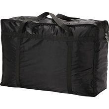 1 großer Wäschesack/Aufbewahrungsbeutel mit Reißverschluss für Kleidung, Bettdecke und Bettwäsche, zum Verstauen von Spielzeug, von Ease Home schwarz