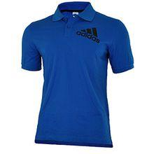 Adidas Spelto Polo Mens Herren Regular Poloshirt Shirt Blau, Grösse:XL