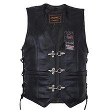 Damen Lederweste, Bikerweste, Motorradlederweste, Clubweste, Chopperweste, Rocker Weste, KUTTE, Vest, Leather Vest, Leather Waistcoat (XXL)
