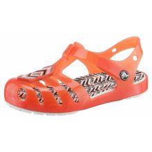 Crocs Sandale 'Drew X Isabella Sandal' koralle / schwarz / weiß