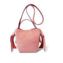 Acne Studios - Musubi Mini Schultertasche Aus Veloursleder Mit Knotendetails - Pink