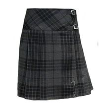"Tartanista - Damen Scottish Highland-Kilt - 51 cm (20"") Knielänge - Granitgrau - EU38 UK12"