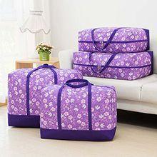 Chlove Aufbewahrungstasche für Bettdecken Oxford Tasche Verstauen Kissen Trage-Tasche für Bettzeug oder Matratzenauflagen Reißverschluss-Box 60x45x28cm Lila