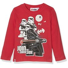 Lego Star Wars Jungen T-Shirt 161409, Rouge (Racing Red 19-1763 TCX), 8 Jahre (Hersteller Größe: 8 Jahres)