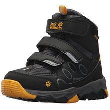 Jack Wolfskin Unisex-Kinder MTN Attack 2 Texapore Mid VC K Trekking-& Wanderhalbschuhe, Grau (Burly Yellow 3800), 28 EU