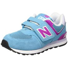 New Balance Mädchen KV574P3Y Sneaker, Blau-Bleu (Blue/Pink/437), 33 EU
