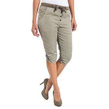 Timezone Damen Short LouTZ 3/4 pants, Gr. 34 (Herstellergröße: S), Beige (nature beige 6122)