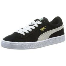 Puma Suede, Unisex-Kinder Sneakers, Schwarz (black-white 01), 38 EU (5 Kinder UK)