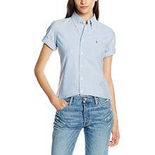 Polo Ralph Lauren Damen Hemd Jenny SS Shirt, Blau (BSR Blue B44D4), 36 (Herstellergröße: S)