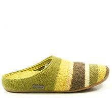 Haflinger 481004 Everest Prisma Schuhe Damen Hausschuhe Pantoffeln Wolle , Schuhgröße:39;Farbe:Grün