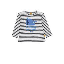 STEIFF Langarmshirt ultramarinblau / weiß