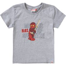 LEGO WEAR T-Shirt 'NINJAGO' graumeliert / rot / schwarz