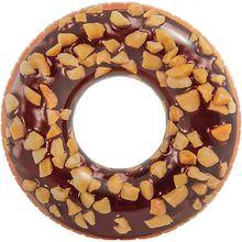 Schwimmreifen Nussiger Schokoladen-Donut braun