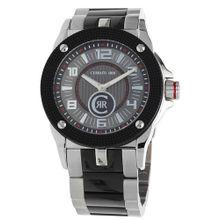CERRUTI Armbanduhr in sportlichem Design 'Odissea Cerchio' schwarz / silber