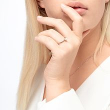 Ring mit Perle, 18 K Rosegold vergoldet