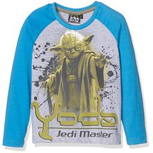 Disney Jungen T-Shirt Star Wars, Grau-Grau, 10 Jahre