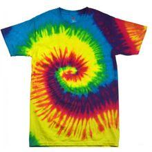 Colortone Damen Batikdruck-T-Shirt Farben-Regenbogen (Small) (Regenbogen)