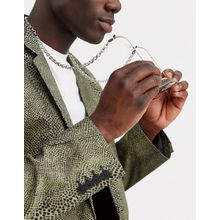 ASOS DESIGN – Grobgliedrige Sonnenbrillen-Kette in Silber