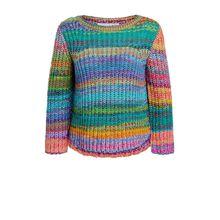 Unikat - Regenbogen Pullover aus Multicolourgarn