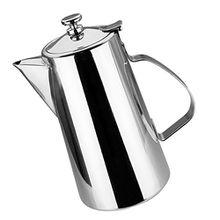 Baoblaze Kaffee Teekanne - Edelstahl Teekanne Wasserkocher, Tee Topf mit Deckel, Teekessel für Zuhause - Kurz Düse, 2L