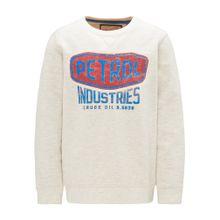 Petrol Industries Sweater beige / neonblau / rot