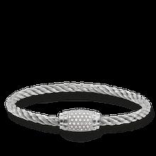 "Thomas Sabo Armband ""Weiß Pavé"" grau UB0003-838-14-L17"