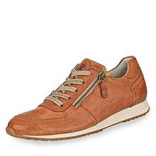 Paul Green 4252-241 Damen Sneaker aus hochwertigem Leder gepolsteter Schaftrand, Groesse 8 1/2, cognac