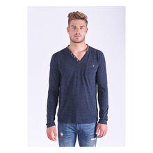 Kaporal Sweatshirt Sirup Bluusm mit schicken Knöpfen Sweatshirts blau Herren