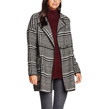 VERO MODA Damen Mantel Vmtiffany 3/4 Jacket, Schwarz (Black Detail:W. Moonbeam), 38 (Herstellergröße: M)