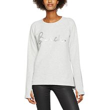 Bench Damen Langarmshirt Sequine Core Sweat, Grau (Summer Grey Marl GY171X), 38 (Herstellergröße: M)