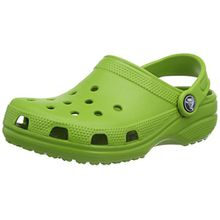 crocs Classic Kids, Unisex-Kinder Clog, Grün (Parrot Green), 24/26 EU (Herstellergröße: C8/9 M US)