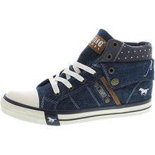 Mustang Damen High Top Sneaker Blau (Jeans), Schuhgröße:EUR 37