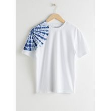 Tie Dye Shoulder Tee - White