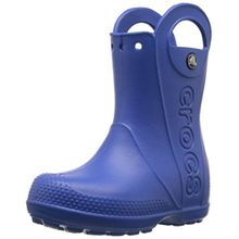 crocs Handle It Rain Boot, Unisex - Kinder Gummistiefel, Blau (Sea Blue), 32/33 EU