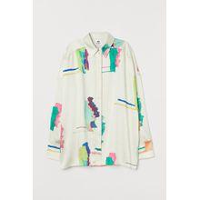 H & M - Oversize-Bluse - White - Damen