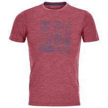 Ortovox - 120 Cool Tec Puzzle T-Shirt - T-Shirt Gr L;M;S;XL;XXL blau;grau;rosa