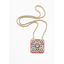 Square Amulet Necklace - Red