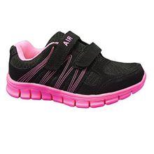 Dek Unisex Kinder Sneaker Low-Tops, Schwarz - Schwarz/Pink - Größe: 30 EU Kinder