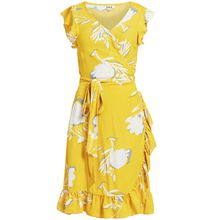 khujo Kleid EMERY Sommerkleider gelb Damen