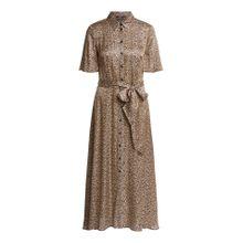 Langes Kleid mit Leomuster